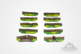Wooden Fences 15mm resin (8)