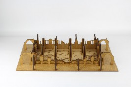 Gothic Ruined Sanctuary with columns 28mm