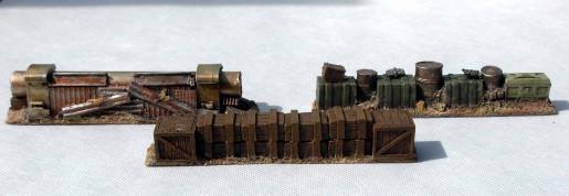 Barricades Set - 3 pieces - resin
