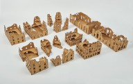 Laser cut RUINED CITY 28mm - Set 47