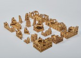 Laser cut RUINED CITY 15mm - Set 49
