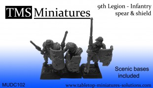 UNIT (25) - 9th Legion infantry skeletons Spear & Shield