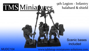 9th Legion infantry skeletons halabard & shield