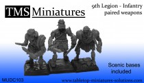 9th Legion infantry skeletons paired weapons