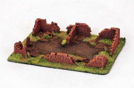 Ruined BUILDING 28mm Painted