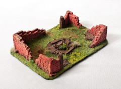 Ruined HOUSE Type I 28mm painted