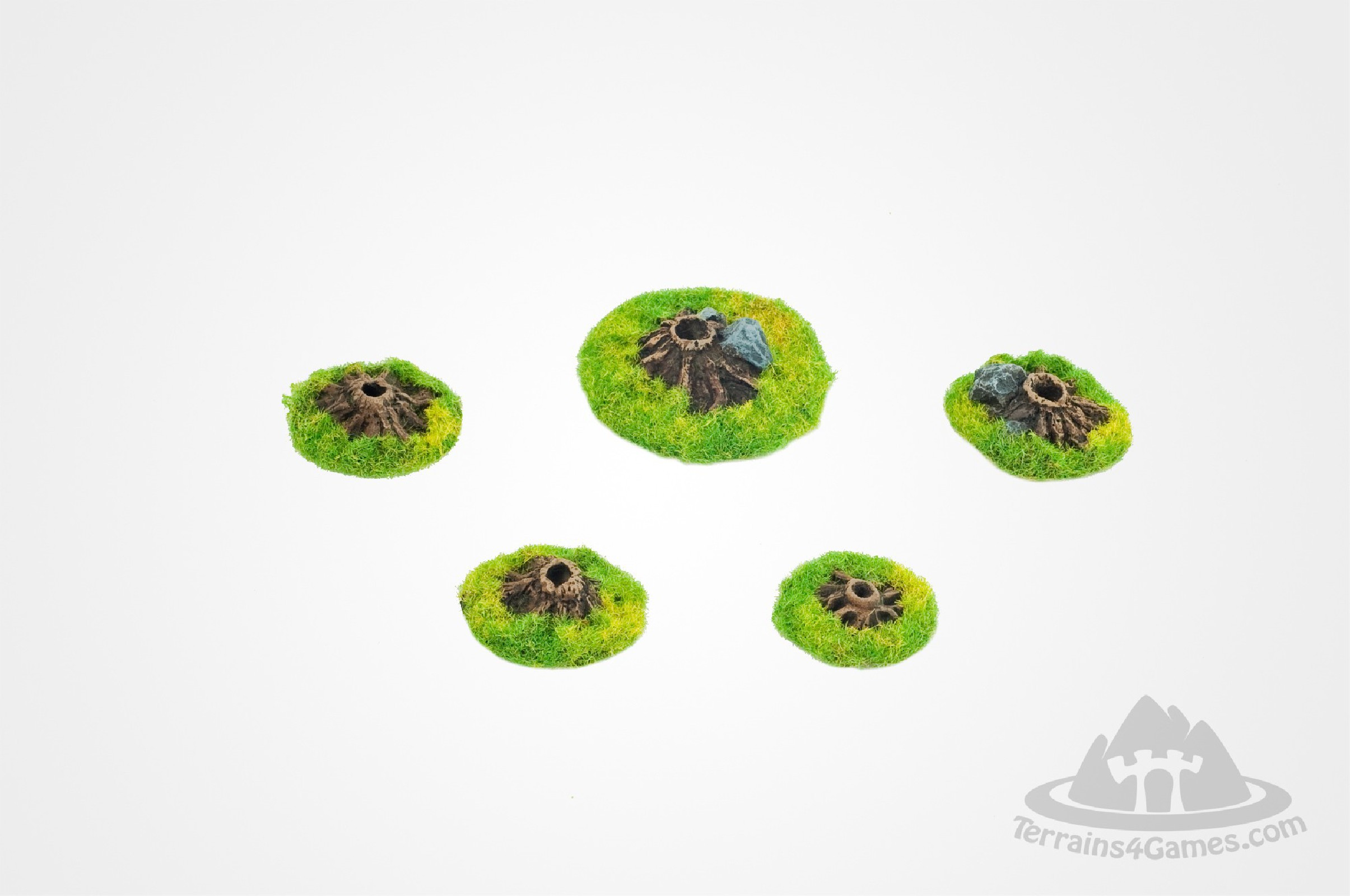 Small bases for trees - 10 items set- unpainted