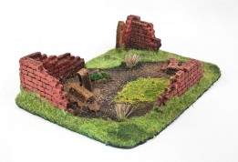 Ruined HOUSE Type II 28mm Painted
