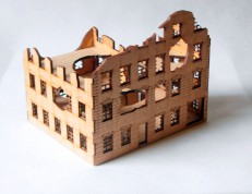 Ruined CORNER TOWNHOUSE 15mm - 2nd Generation