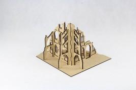 Gothic City Ruin D laser cut