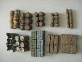 Set of BOXES BARRELS CHESTS TRUNKS - 64 pieces