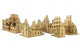 Ruins set  with sidewalks 28mm