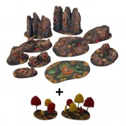 APOCALYPTIC TERRAINS Set - Alien Dark coloured