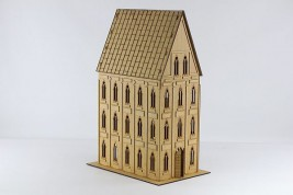 Gothic Building with upgrade set II (sloping roof)
