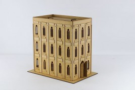 Gothic Building with upgrade set I (flat roof)