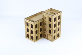 Large corner factory building 15mm J004