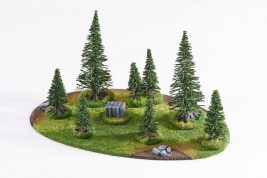 Large Coniferous Forest - 8 trees