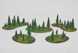 Coniferous FOREST Set - 32 trees