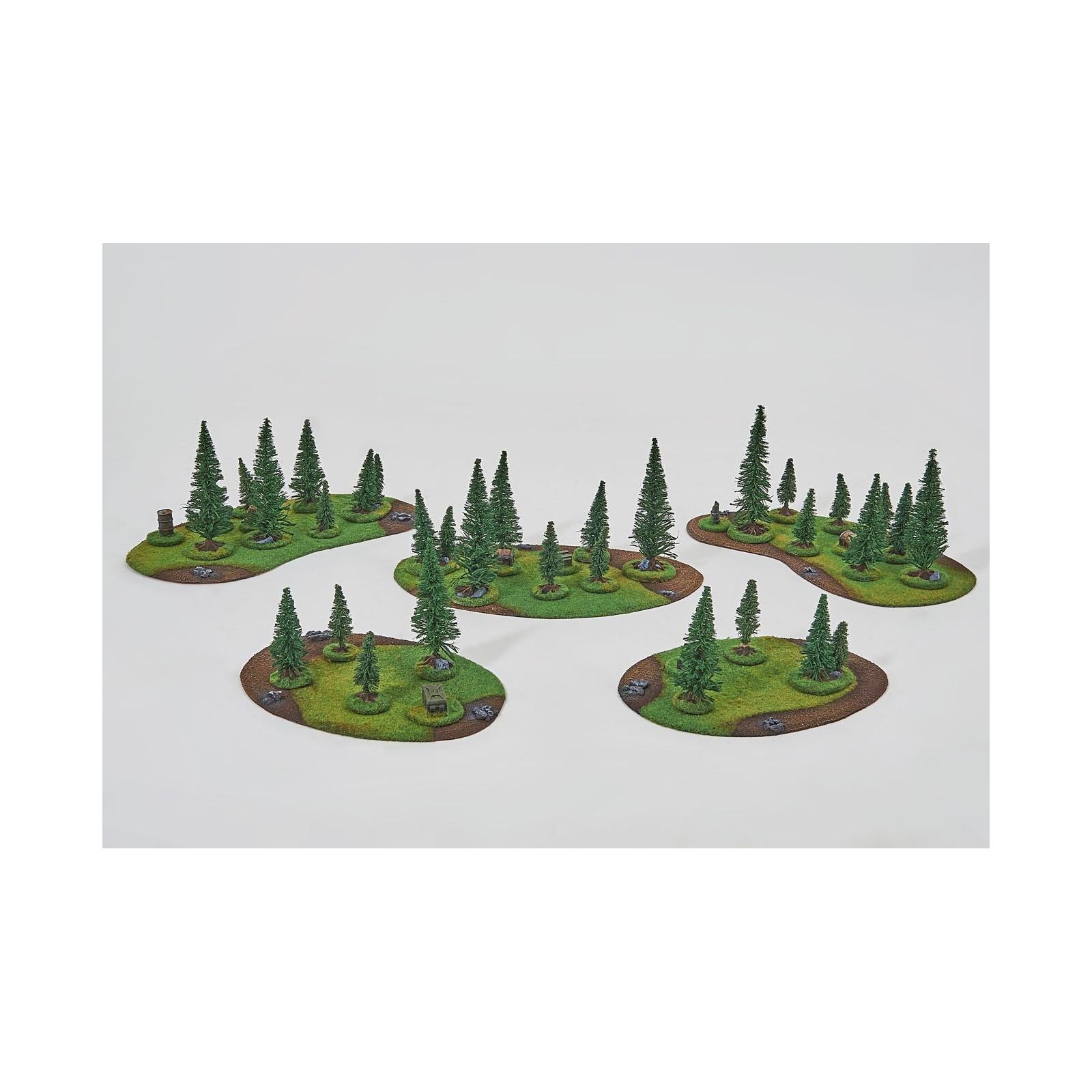 Coniferous FOREST Set - 32 trees