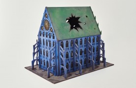 Gothic Building with Destroyed Roof 28 mm - Set 44