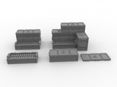 Ammo Crates Set - 16 pieces