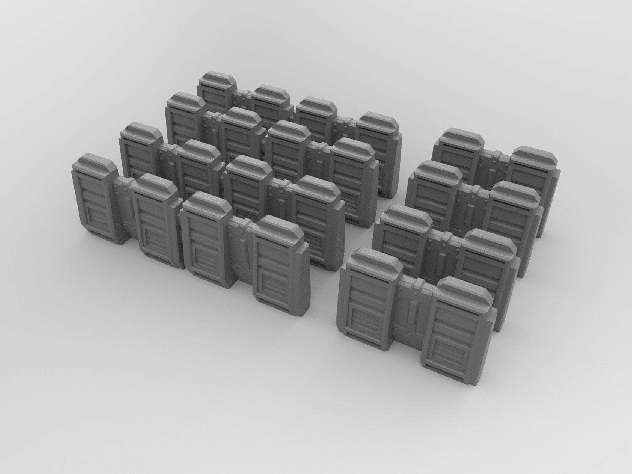 Sci-Fi Barriers & Barricades Set - 8 pieces