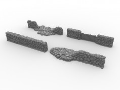 Stone Wall Set - 6 pieces