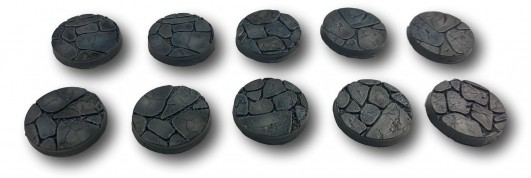 Cobblestone Bases - 25mm (10)