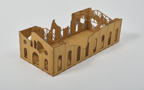 Ruined Large Factory Detailed 28mm
