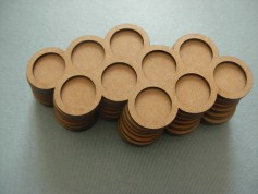 Round bases tray 10x25mm