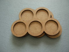 Round bases tray 5x25mm
