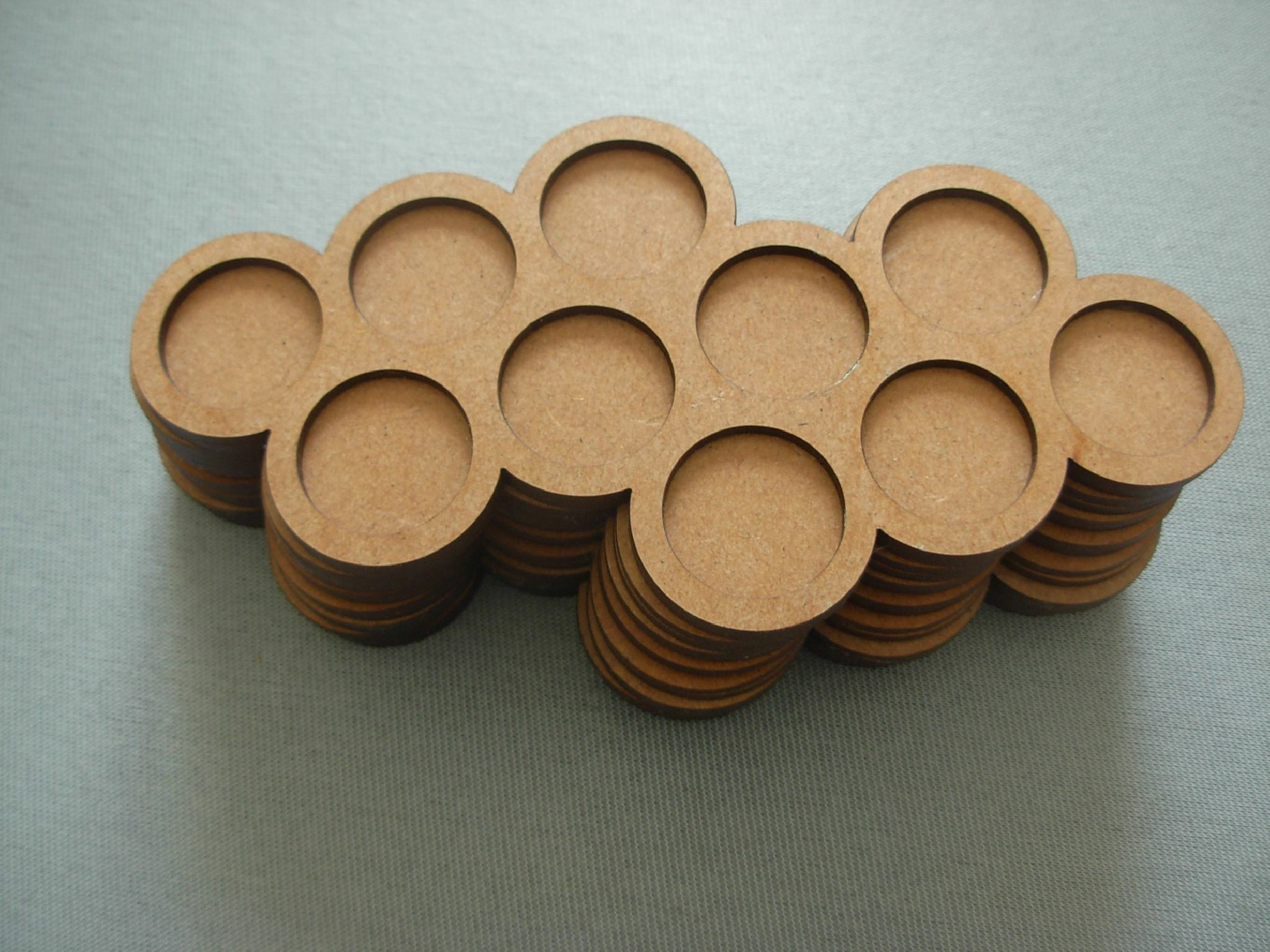 Round bases tray 10x20mm