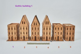 Gothic Building 1 - 28mm  flat roof