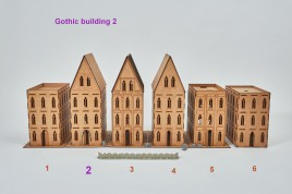 Gothic Building 2 - 28mm  sloping roof