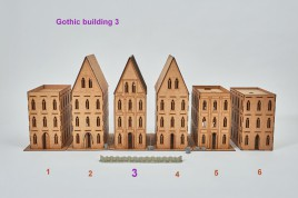 Gothic Building 3 - 28mm  sloping roof