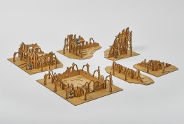 Gothic ruined city 28mm - assembled