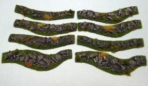 Stone Hedges set - 8 pieces - painted