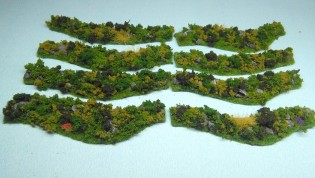 Grassy Hedges set - 8 pieces - painted