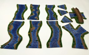 RIVER 180 cm with bridge painted