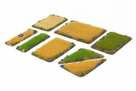 FARM FIELDS Set - 8 elements painted