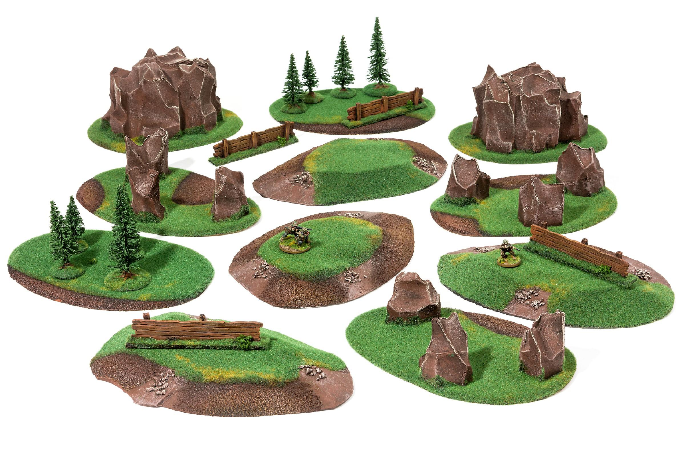 LARGE Basic Battlefield Set - 15 elements