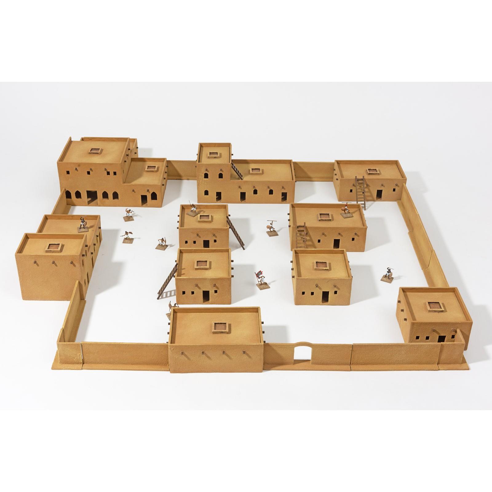 Pre-Sale: DESERT CITY Set - 10 building unpainted 28mm scale