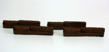 Wooden Barricades - 28 mm